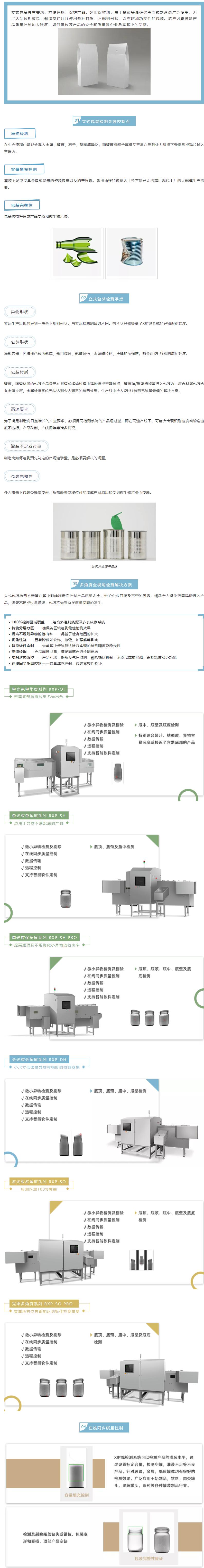X射线检测系统——立式包装产品检测解决方案